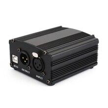 48 V USB Phantom блок питания USB проводной микрофон кабель для мини-микрофона конденсаторное записывающее оборудование-черный