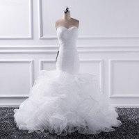 Katristsis d 2019 Mermaid sweetheart Wedding Dresses Vestido De Noiva Sheer Lace Up Bride Tull Ruffles Bridal Dress Gown