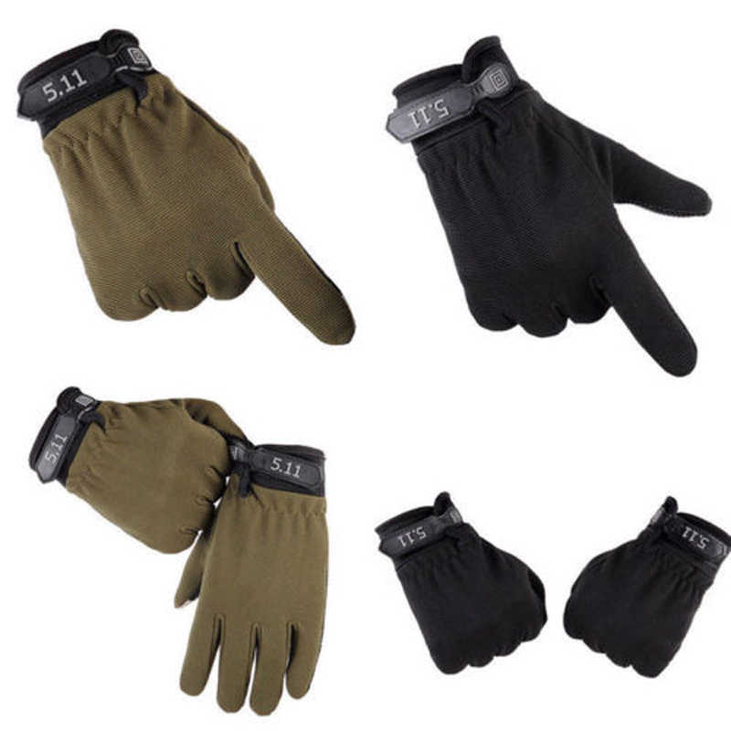 屋外サイクリング冬服陸軍軍事戦術防止滑りやすいと耐摩耗性手袋屋外フル指 EA