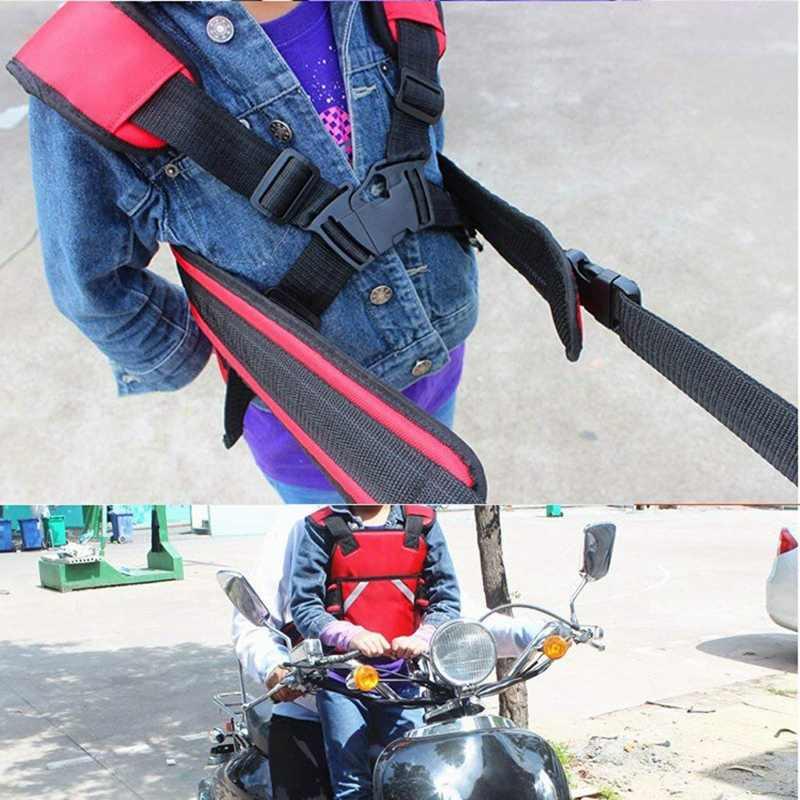 Adjustable Skuter Anak Perlindungan Sabuk Sepeda Motor Sepeda Motor Perlindungan Sabuk Anak Bayi Gadis Anak Laki-laki Merah