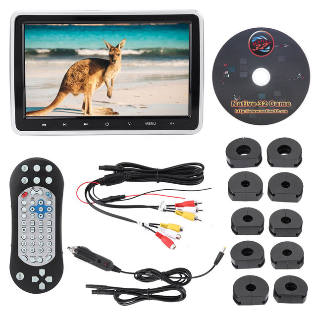 10.1in External Car Monitor DVD Player Display Color LCD Digital Screen Touch Button accesorios automovil pantalla coche New