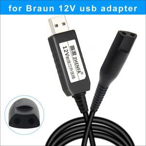 Image 1 - Cable de carga USB de 12v para afeitadoras Braun, adaptador de corriente para depiladora Braun Silk Epil 5 y 7, maquinilla de afeitar 5210 5377 5375 5412
