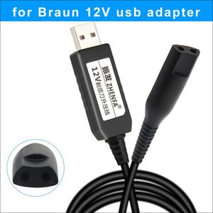 Image 1 - USB 12v Charge Cable Braun Shavers Charger adapter Power for For Braun Epilator Silk Epil 5 & 7 Shaver razor 5210 5377 5375 5412