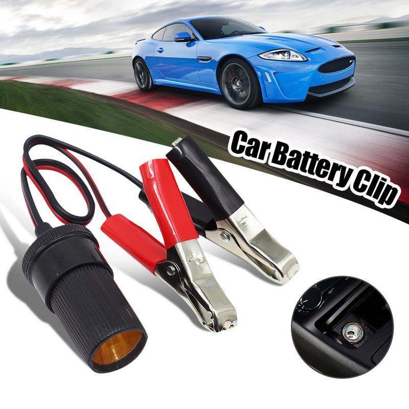 Car Battery Terminal Clip-On Cigarette Lighter Clamp Socket Adapter Plug To Car Boat Car USB Charger 12V Volt Power