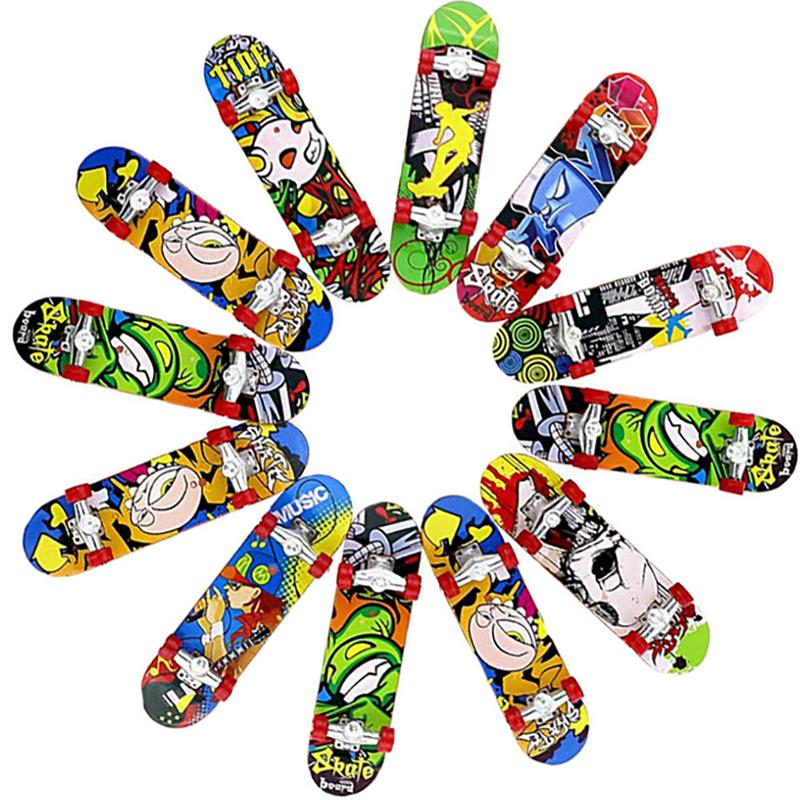 1pc Mini Fingerboards Finger Skateboard Matte Surface Random Color Mini Finger Skate Children'S Toy Colour Random