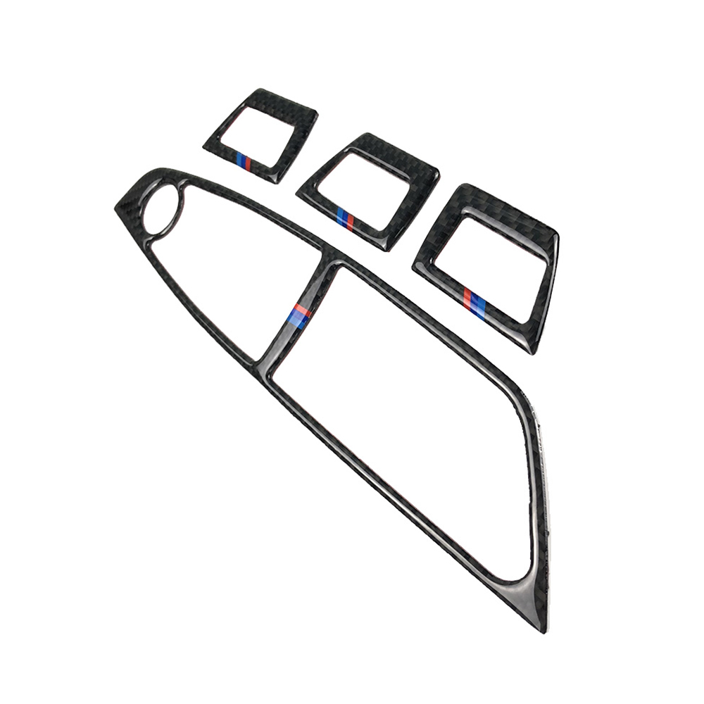 Carbon Fiber Window Lifting Frame Cover Trim Sticker Car