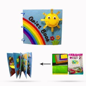 Тихая книга для детей, ручная работа, 20х23см, первая книга, игрушки для детей, для раннего обучения, обучающий, легкий в шитье, материал для рук...