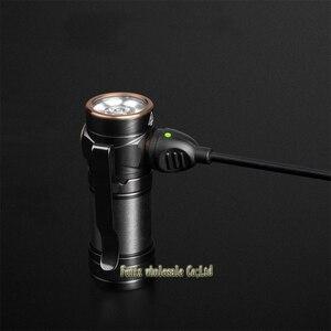 Image 3 - Fenix E18R كري XP L مرحبا LED 750 لومينز 16340/CR123A المغناطيسي شحن EDC مصباح يدوي مع 16340 بطارية الشعلة