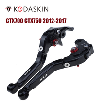 KODASKIN Folding Extendable Brake Clutch Levers for Honda CTX700 CTX750 2012-2017