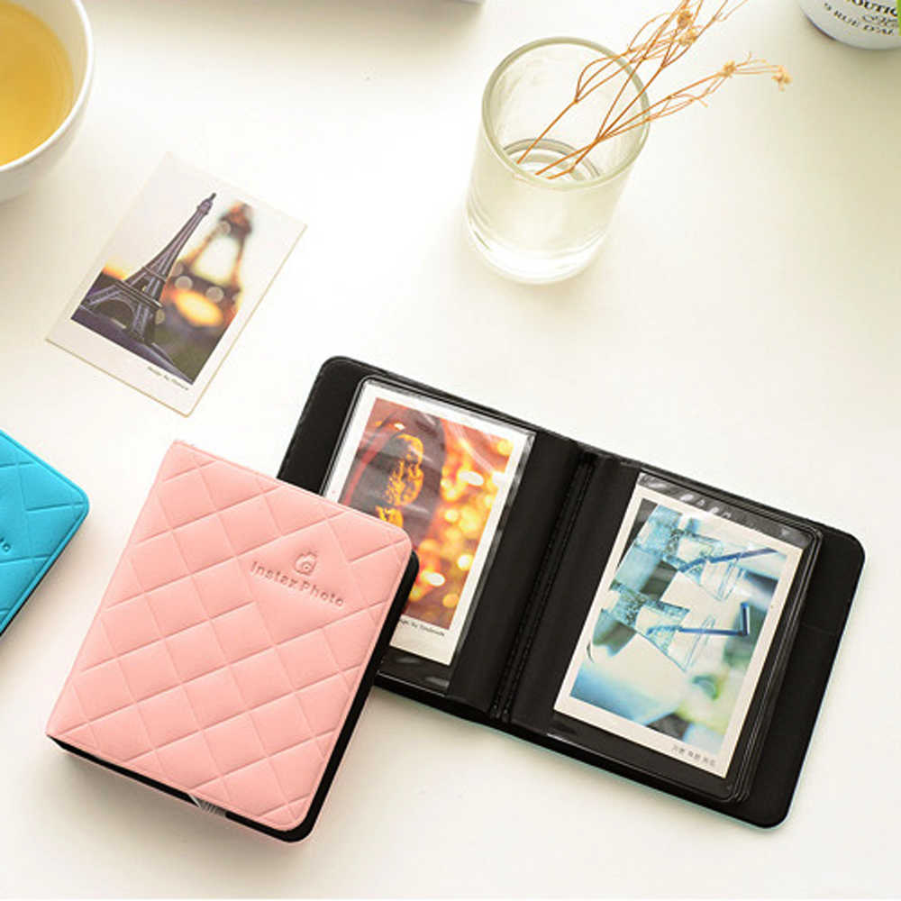 36 Pockets Albums Portable Album ID Card Package Mini Instant Picture Storage for Fujifilm Photo Polaroid Photo