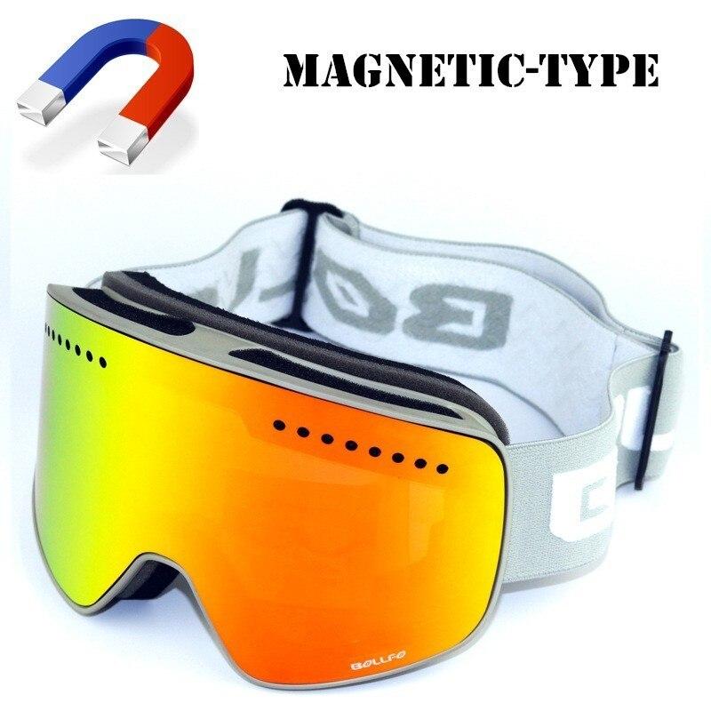 Aimant Ski Lunettes Lunettes Hommes Femmes Débutant Ski De Sécurité Oculaire Miroir Masque Neige Snowboard lunettes Lunettes D'hiver Sports de Plein Air