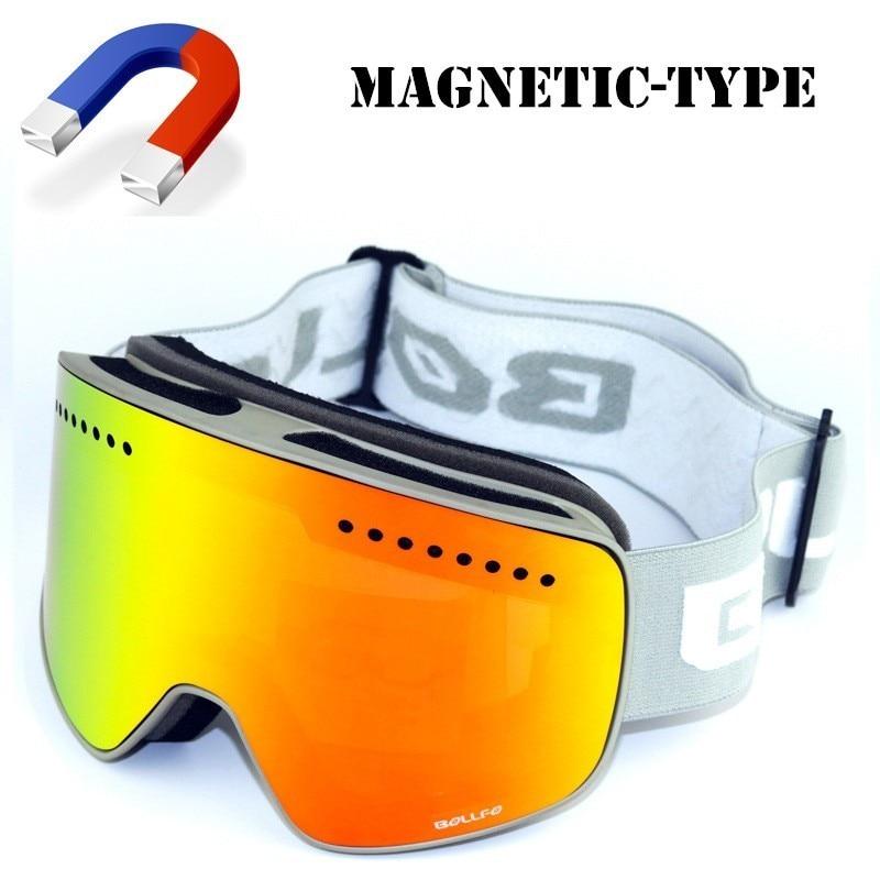 Aimant Ski lunettes hommes femmes débutant Ski oeil sécurité miroir masque neige Snowboard lunettes lunettes de protection hiver Sports de plein air