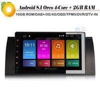 9 DAB + Android 8,1 Авторадио спутниковой радио Wi Fi 4G gps DVR Bluetooth DVT IN Автомобильный мультимедийный плеер для BMW 5 серии E39 E53 X5 M5