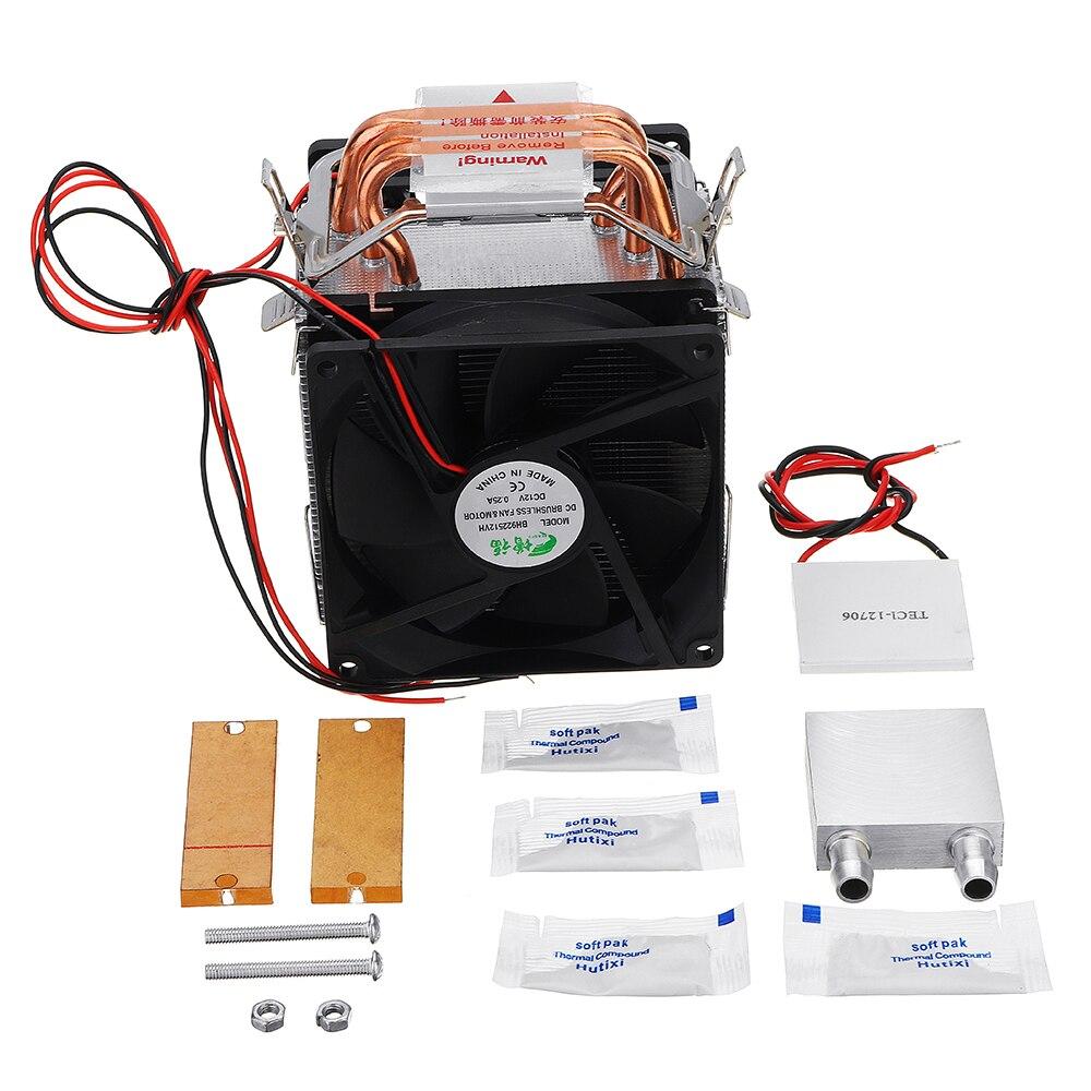 12 V 10A 3 Tube de cuivre bricolage semi-conducteur réfrigération bloc de refroidissement à l'eau Kit bricolage équipement de refroidissement Kit