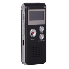 Voice Recorder 8GB Audio Rechargeable Dictaphone Digital With LCD Display