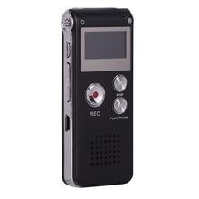 лучшая цена Voice Recorder 8GB Audio Voice Recorder Rechargeable Dictaphone Digital Recorder With LCD Display