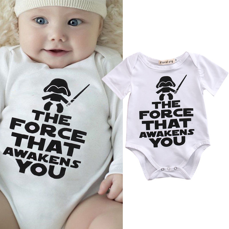 Pudcoco Boy Jumpsuits 0M-18M Star Wars Newborn Kids Baby Boy   Romper   Sunsuit Clothes Outfit 0-18M US