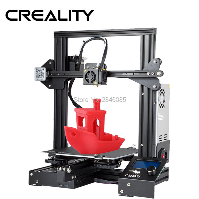 Ender 3 Creality 3D printer V slot prusa I3 Kit Resume Power Failure Printer 3D DIY KIT 110C for Hotbed-in 3D Printers from Computer & Office