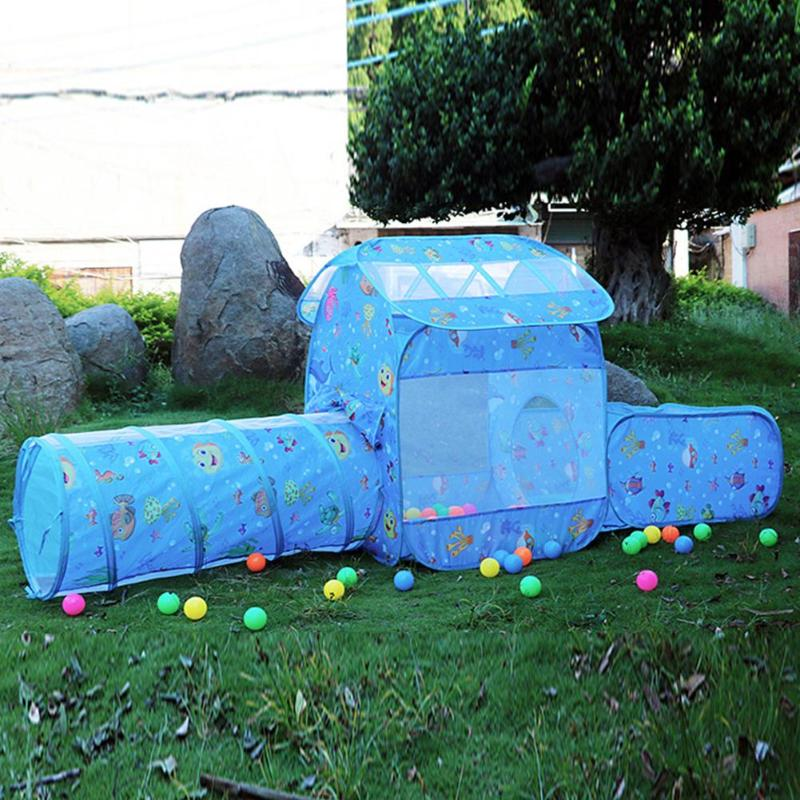 Baby Tent Toys Ocean Ball Pool Kids Tent Toys For Children Crawling Tunnel Pool Ball Pit Outdoor Play Baby Tent For Girls Boys
