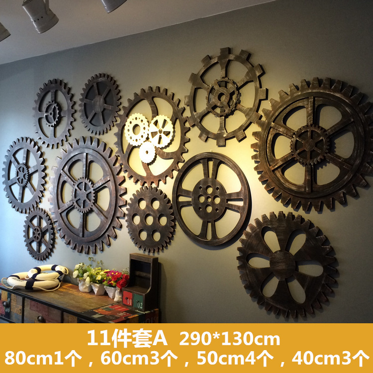 Restore Ancient Ways Industry Gear Wall Furniture Display Rather Use Wall Pendant LOFT Personality Originality Ornamentation