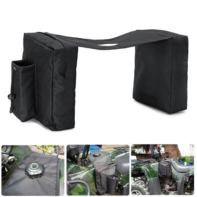 Купить с кэшбэком ATV Saddle Bag Equine Back Pack Panniers Bag For Polaris Dirt Bike Ski-doo Black 21*28*26cm Motorcycle Accessories Bag