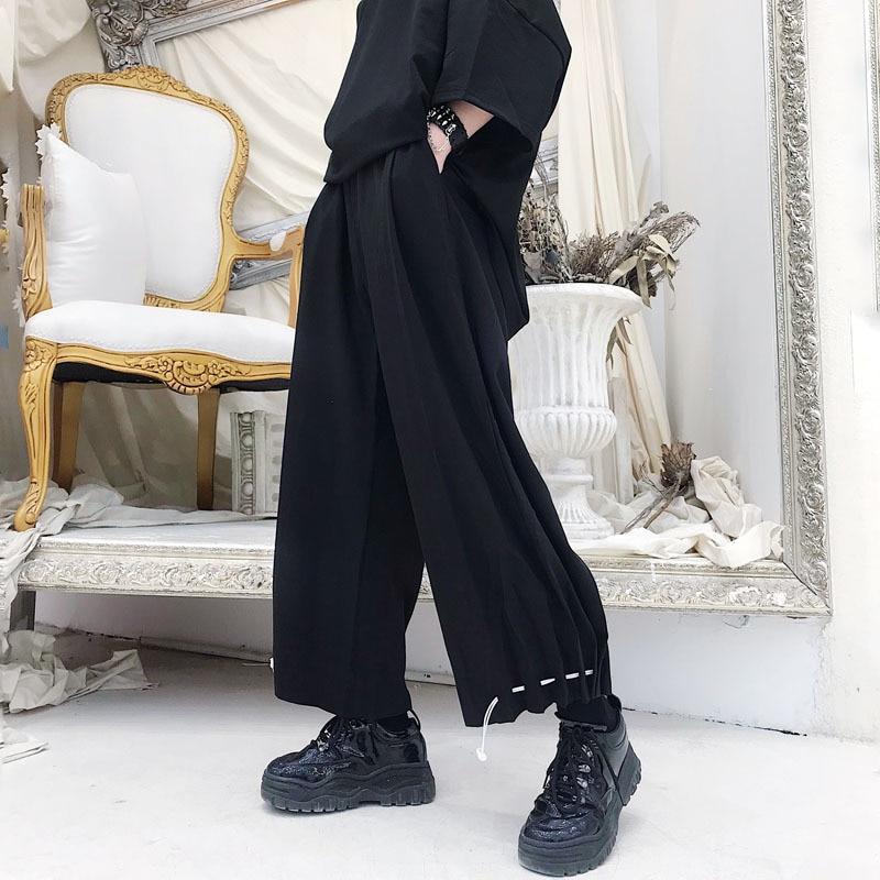 Trousers Male Leg-Pants Streetwear-Trend Loose Men's Fashion Casual New Hip-Hop Man Wide