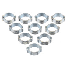 Mayitr 10pcs Double Ears Hose Clamps Clips Stainless Steel Worm Drive Fuel Water Hose Pipe Hardware Clamps pipe clamps hose clips stainless steel jubilee type durable silver durable anti oxidation corrosion resistant powerful torque