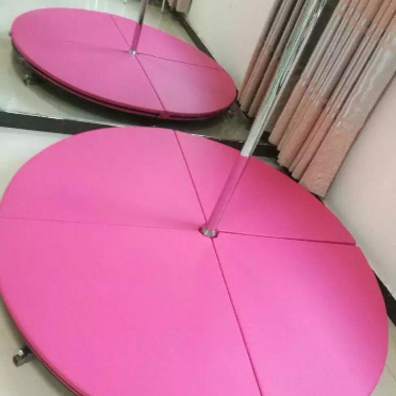 Thickened Four fold Pole Dance Mat Fitness Yoga PU Leather Cotton Lining Round Dance Mats