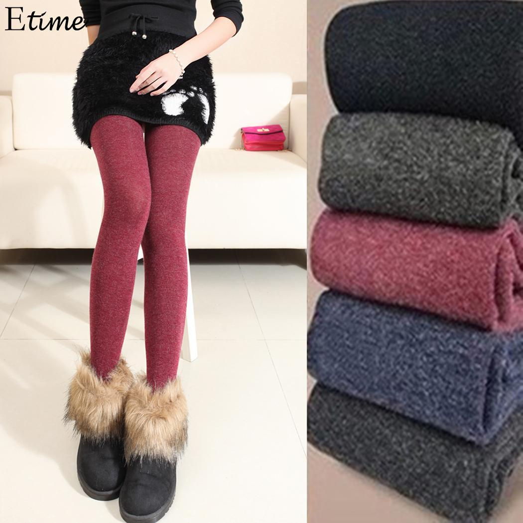 FANALA Warm   Leggings   Women's Winter Warm Skinny Slim   Leggings   Stretch Knitted Thick Stirrup Pants   Leggings   Women Leggins 2018