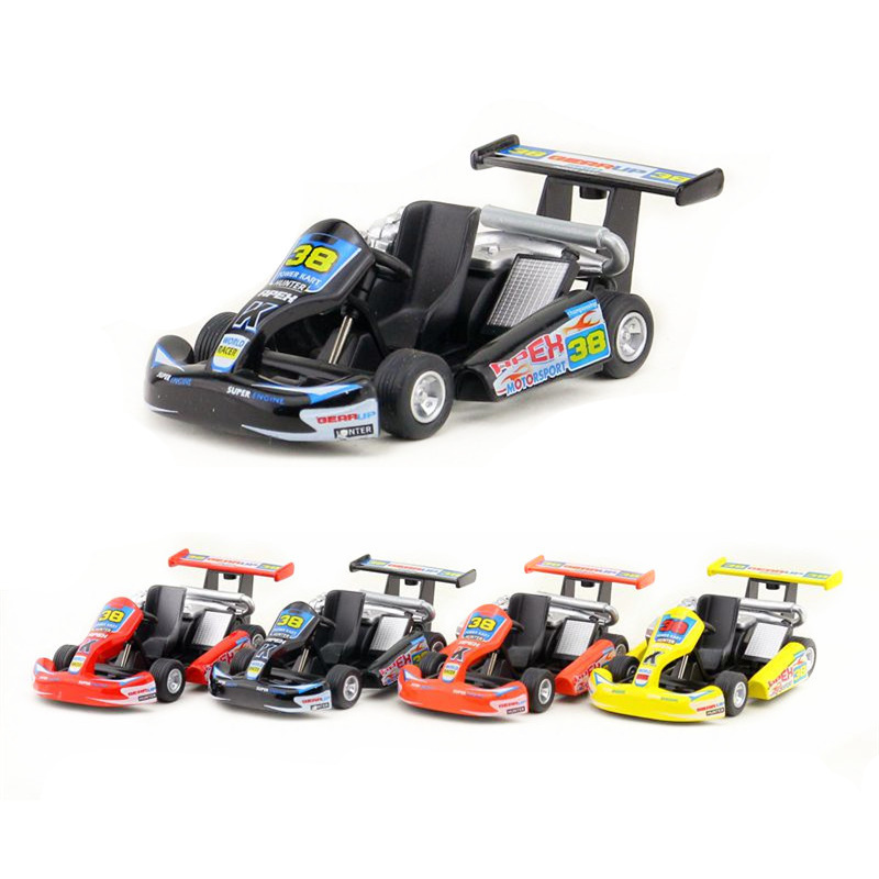 KiNSMART/KINSFUN Plastic toy/simulation Turbo Go-Kart toy Mini Racing Car/Gift For Children/Educational Collection go-kart