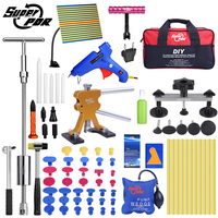 Super PDR Tools Kit For Car Paintless Dent Repair Tool Hail Dent Removal Kit auto dent pullers suction cup dent pulling bridge