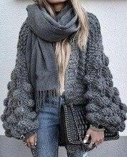 рукавом-фонариком, Женский вязаный свитер