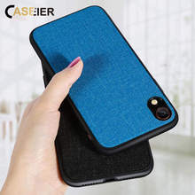 CASEIER Cloth Phone Case For iPhone 7 Plus 8 Plus XR XS MAX Business Case For iPhone 7 6 6S Plus XR XS MAX Back Cover Funda Capa