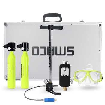 6 で 1 ダイビングシステムミニスキューバリフィルスキューバダイビング酸素リザーブ空気タンクポンプアルミボックスシュノーケリングダイビング機器セット