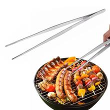 1pc Barbecue Tongs Food Clip Kitchen With Stainless Steel Tweezers Plastic Buffet Restaurant Tool A30