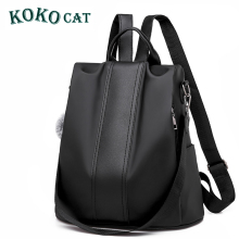 Women Backpack Purse Waterproof Nylon Anti-theft Rucksack Lightweight School Shoulder Bag Leather Mini