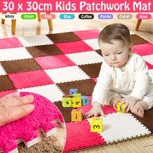 6 шт., мягкий ковёр для гостиной, спальни, детей, детей, волшебный лоскутный коврик для малышей 30*30 см