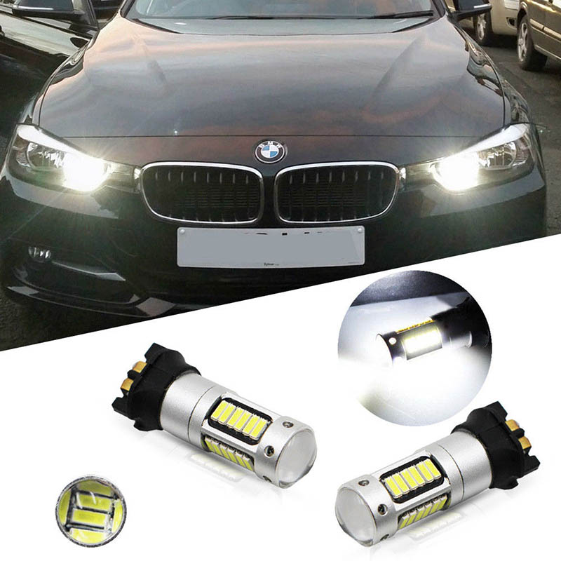 2xWhite Error Free PW24W Bulb LED DRL Daytime Running Light For BMW F30 3 Series