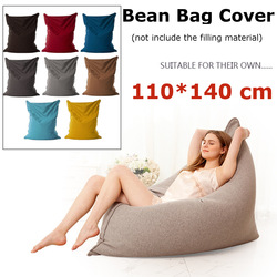 140x110cm Lazy Bean Bag Sofas Cloth Lounger chair Sofa Cover Chairs Pouf Puff Couch Tatami Living Room Furniture washable