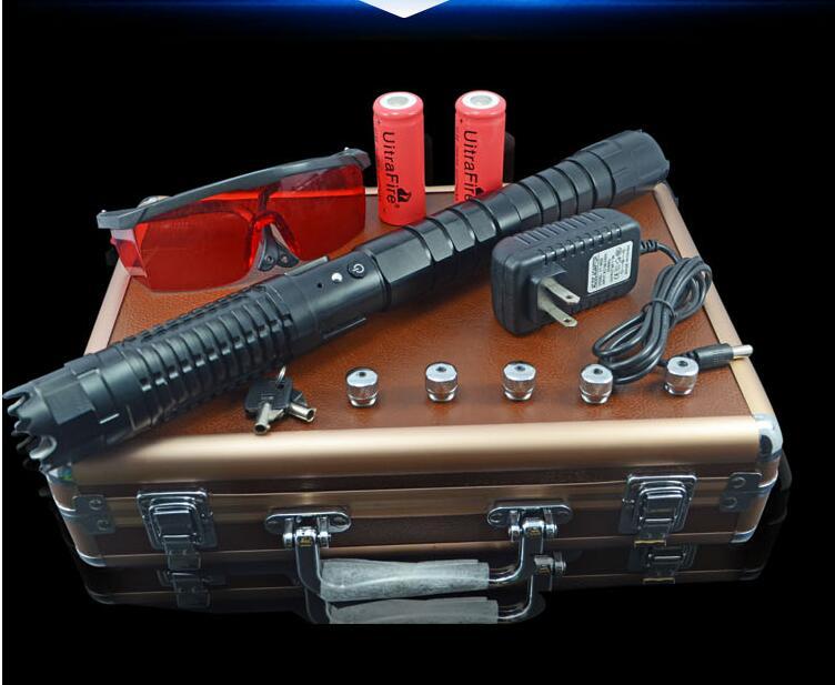 AAA 450nm de Alta potência ponteiro laser azul 500 W 500000 m SOS lanterna Luz lazer Queima Jogo/seco vela /preto/Queimar charutos leves