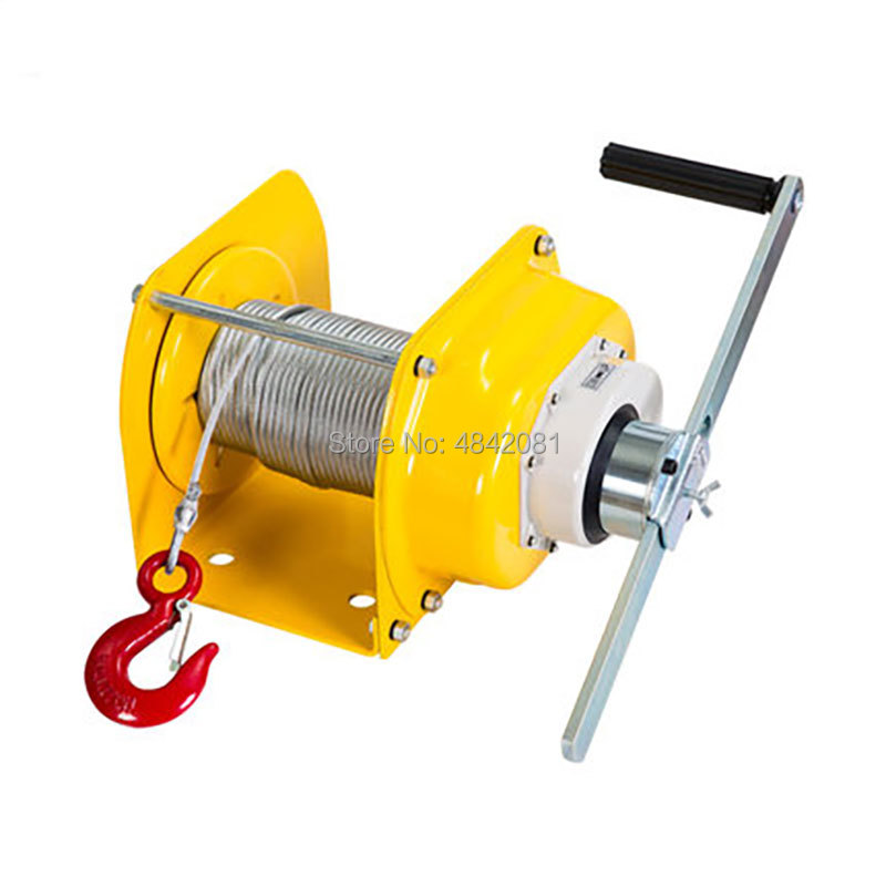 0.5T/1T/2T/3Ton Manual Winch Boat Truck Auto Self-locking Hand Manual Galvanized Steel Winch Hand Tool Lifting Sling