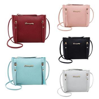 404261bcfa4d Личи шаблон сплошной цвет женские плечевые Сумочки кожаные сумки через плечо