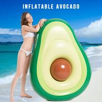 Summer Swimming Pool Floating Inflatable Avocado Mattress Green Swim Floating Island Cool Water Party Toy Boia Piscina ChildR