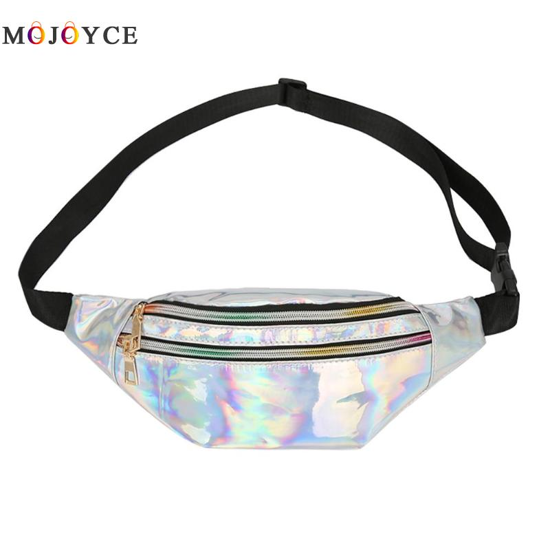 Fashion Designer Fanny Packs Multifunction Reflective Laser Belt Bags Women Bum Waist Bags