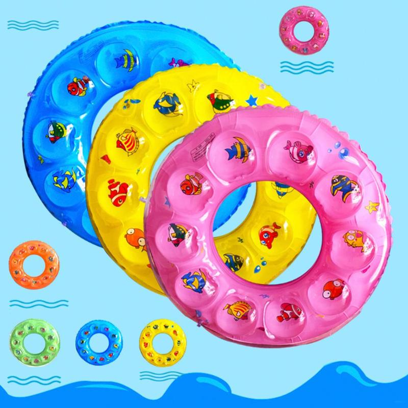 Baby Kids Summer Swimming Ring Inflatable Cartoon Baby Swimming Ring Kids Armpit Float Circle Thickened Bathing Ring