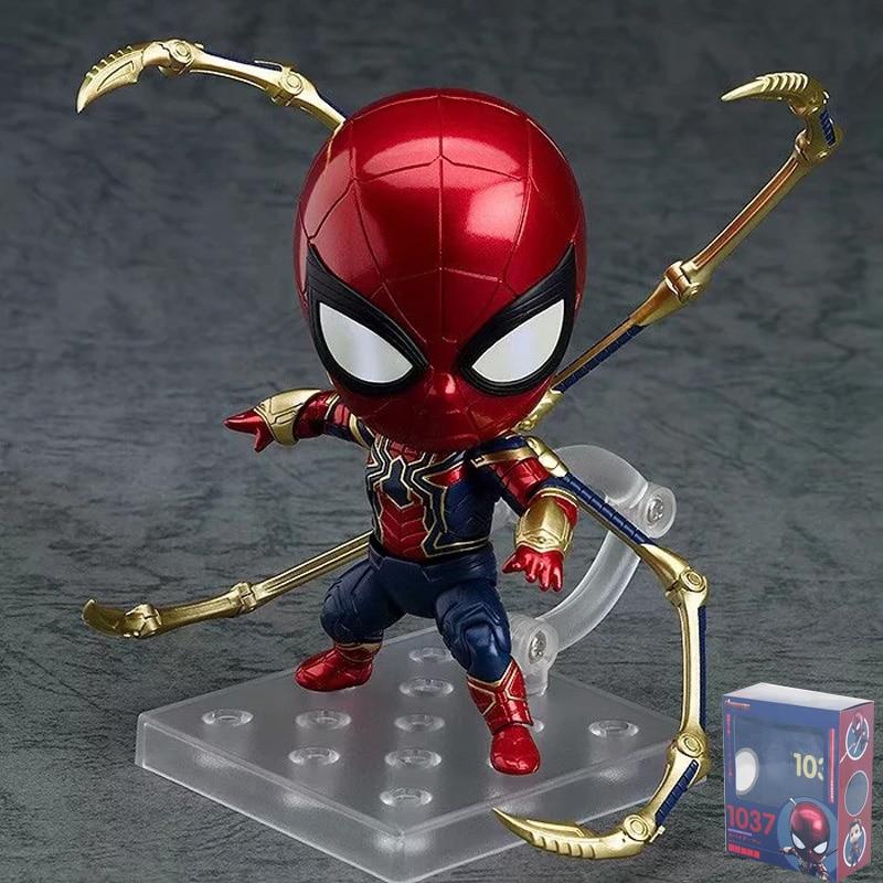 10cm Marvel Legends Avengers Infinity War Iron Spider Man Action Figurine Statue