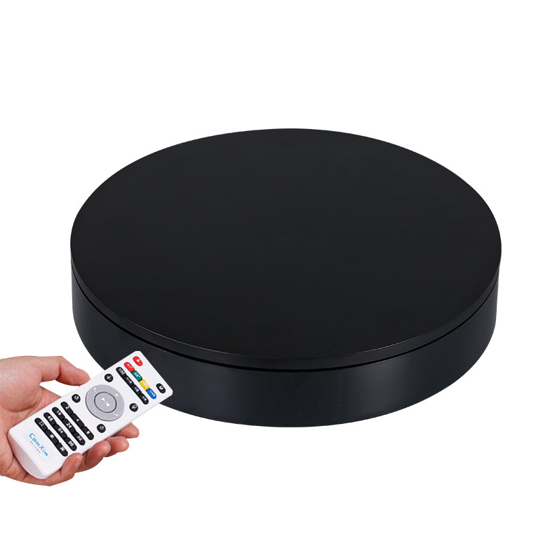 32cm Smart Remote Control Speed Direction 360 Degree Auto Rotation Photography Rotating Turntable Display Stand High