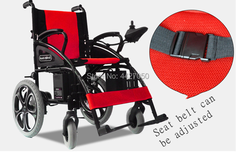 2019 free shipping cheap price Double motor folding electrical wheelchair