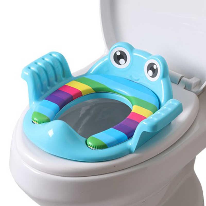Asiento de inodoro para bebé, asiento seguro para niños, orinal y reposabrazos para niñas
