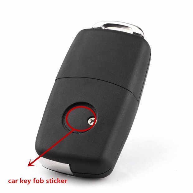 50 pcs 14mm voiture télécommande porte-clés Badge bouton Radio autocollant remplacement pour opel Astra Mokka Insignia Zafira Corsa Tigra